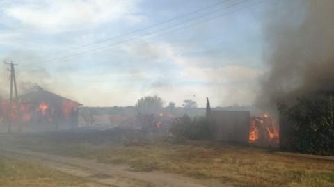 В селе в Воронежской области из-за поджога сухой травы сгорели дома