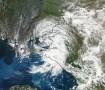 Спутниковый снимок циклона над Краснодарским краем 6 июля